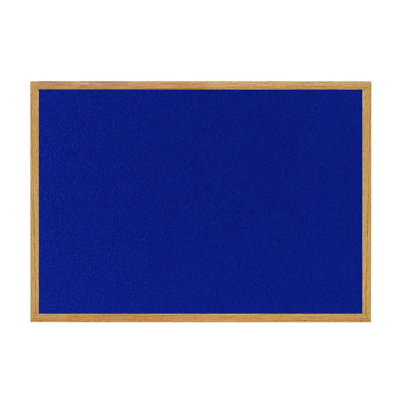 The Bi-Office Earth-It Range, High-Quality Blue Felt Noticeboard in its oak wooden frame. Free Shipping and Great Value on all orders.
