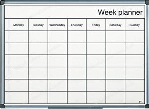 Magnetic Week Planner 600 x 400 mm (Aluminium Frame)