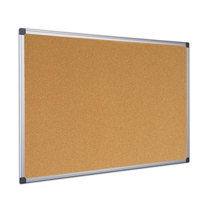 This image portrays the Bi-Office Maya Cork Notice Board with Aluminium Frame. Available in a number of sizes.