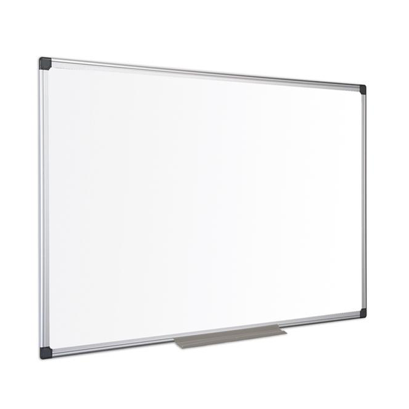 An image of the Bi-Office Standard Non-Magnetic Whiteboard in its Aluminium Frame. Perfect for presentations in the Office, Classroom or Boardroom. Free Shipping and Great Value on all orders.