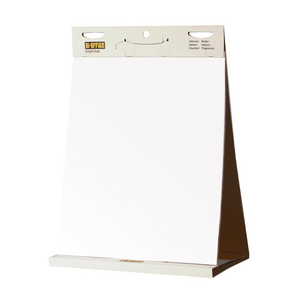 The Bi-Office, Tabletop Self Stick Flipchart Pad - Ready for use with its cardboard backing. Suitable for use in offices, classrooms and boardrooms. Free Shipping always available at Novel Idea Online