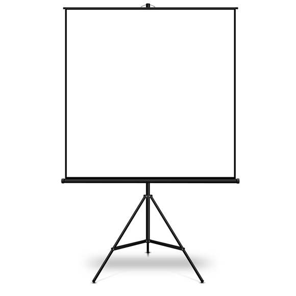 Tripod Projection Screen 1250 mm x 1250 mm