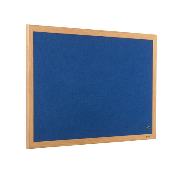 A Blue wall-mounted Bi-Office Earth-IT Executive Wood Frame Felt Notice Board. Novel Idea Online offer free-shipping and great customer service on all orders.