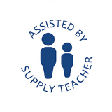 This Stamper imprints and image of a student and a supply teacher along with the message, Assisted By Supply Teacher. Great for showing that a student has had direct support on this piece of work. Free UK Shipping.