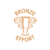 Motivational Teacher stamps are great for helping students learn, this Bronze Effort stamper that prints in bronze is no exception. The text reads: Bronze Effort. Free UK Shipping. Available at Novel Idea Online.