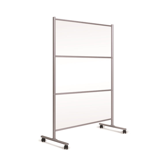 Mobile Stand with Transparent Panel, Glass, Aluminium Frame