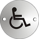 The Universal Disabled Iconography is displayed on this Circular Door Sign. Suitable for use in a multitude of workplaces such as offices, schools, toilets, hospitals and shops. Novel Idea Online offer Free Shipping on all Orders.