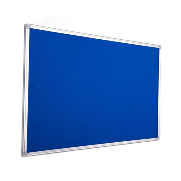 An Earth it Range, Maya Felt Notice Board in Blue. Wall mounted with an Aluminium Frame to look professional and sleek. Free Shipping on all order from Novel Idea Online.