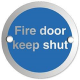 This Circular Door Sign reads Fire Door Keep Shut and is suitable for use in offices, schools and other workplaces. Novel Idea Online provide Free Shipping on all Orders.