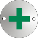 This First Aid Circular Door Sign is useful for aiding people in finding out where they can get medical assistance. Suitable for almost any workplace where people may be injured such as warehouses, offices, schools, doctors surgeries, shopping malls and many other places. Novel Idea Online offer Free Shipping on all Orders.