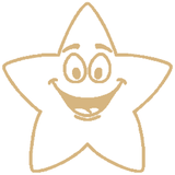Gold Smiling Star – Colop School Stamper. Available at Novel Idea Online. Free UK Shipping.