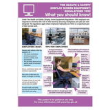 Health and Safety Sign - Health and Safety Regulations, Screen Equipment. Suitable for offices and workplaces that utilize computers and screens. In many workplaces it is now also a legal requirement to display visibly regulations and rules. Available at Novel Idea Online. Free Shipping on all Orders.