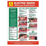 Health and Safety Posters - Electric Shock, What your should know! This safety poster is suitable for workplaces where there is a possibility of electric shocks or electrical accidents. In some workplaces displaying this information is now a legal requirement. Available at Novel Idea Online. Free Shipping on all Orders.