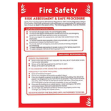 Health and Safety Posters - Fire Safety, Risk Assessment and Safe Procedure. Suitable for numerous workplaces, this fire safety sign can be easily fixed to numerous surfaces. In some work places it's now a legal requirement to have a fire safety sign. Available at Novel Idea Online. Free Shipping on all Orders.