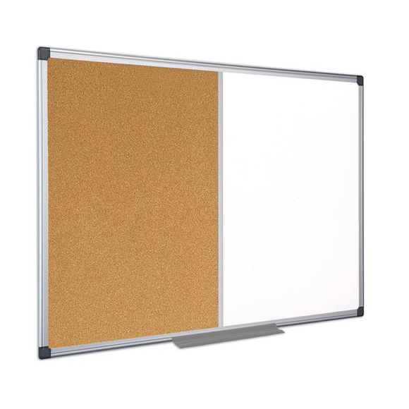 This image displays the versatile Maya Cork and Magnetic Drywipe or Whiteboard Combintion Board.