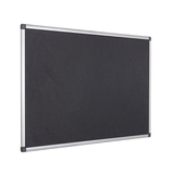 The Black Bi-Office Maya Felt Noticeboard in a high-quality aluminium frame. Free shipping on all orders