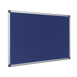 The High-Quality Bi-Office Maya Felt Board in its blue variaty and aluminium frame. Free Shipping on all orders.