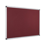 The High-Quality Bi-Office Maya Felt Board in its burgundy variaty and aluminium frame. Free Shipping and Great Value on all orders.