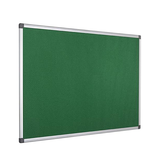 An image of the High Quality Green Maya Felt Notice Board in its Aluminium Frame. Available at Novel Idea Online. Free Shipping on all orders.