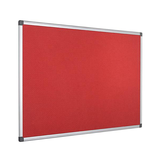 The red High-Quality Bi-Office Maya Felt Board and aluminium frame. Free Shipping on all orders.