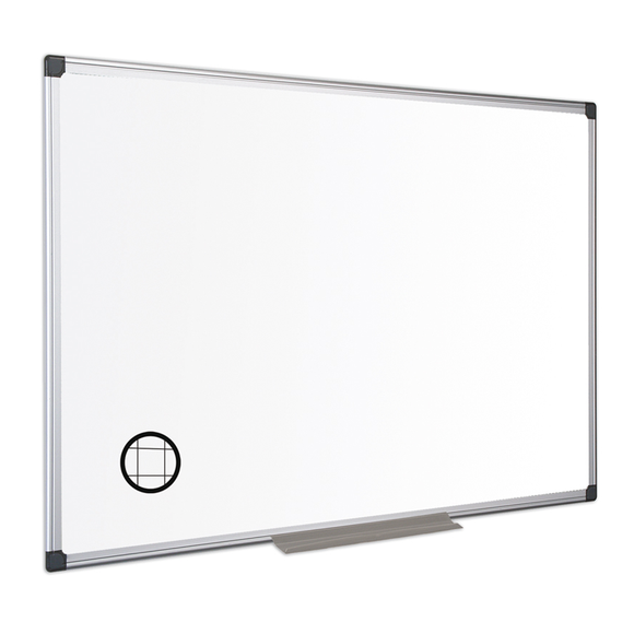 An image of the Maya Gridded Whiteboard that illustrates the scale of the grid. The Gridded finish is delicate and almost impercepitble to any audience. Free Shipping and Great Value on all orders.