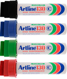 Artline 130 30mm Giant Tip Permanent Marker Pack 6 (Various Colours)