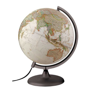 An Image of the National Geographic, Illuminated Antique Executive Globe (30cm). Available at Novel Idea Online. Free Shipping and Great Customer Service on all our world globe orders.