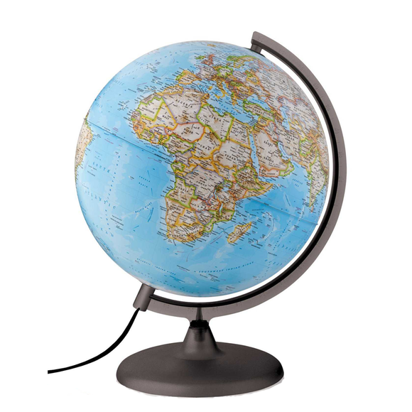 The Classic Illuminated National Geographic Globe Featuring National Geographic Cartography. Available at Novel Idea Online, Free Shipping and Great Customer Service on all Orders.