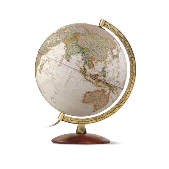 The National Geographic, Illuminated Edge Executive Antique Globe (30cm). Available at Novel Idea Online, Free shipping and Great Customer Service on all orders.