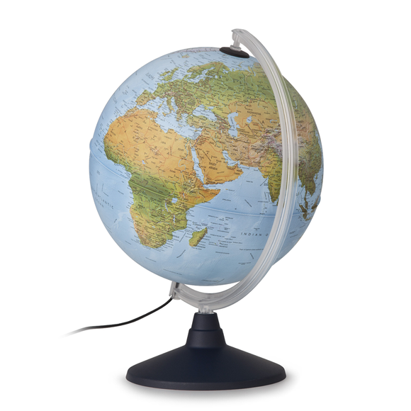 The 30cm Noval Rico Illuminated Elite Globe, non-illuminated. Available at Novel Idea Online with free shipping and great customer service on every order.