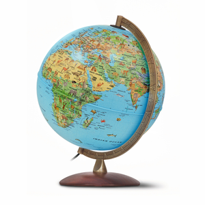 A display image of the Nova Rico, Illuminated Safari Plus Globe. Comes with a fantastic Illustrated Information Book for educational purposes. Great for children and kids. Free shipping on all orders.