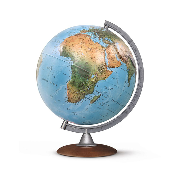 A display image of the Nova Rico, Illuminated Tactile Globe(30cm). Novel Idea provide free shipping on all orders of this fantastic product.