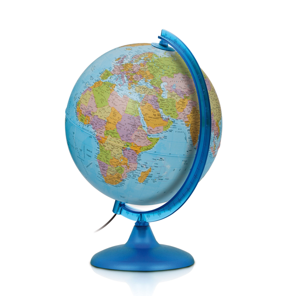 The Night and Day Globe by Nova Rico (25cm) with the political boundaries being displayed. Available at Novel Idea Online. Free Shipping on all orders.