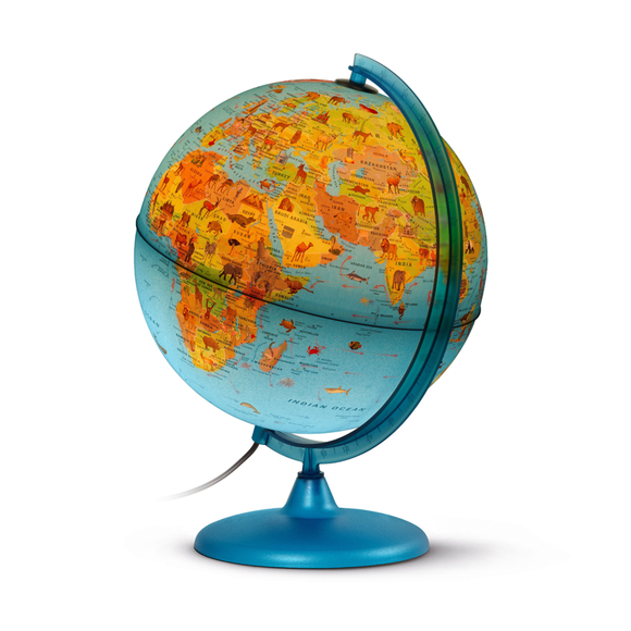 An Illuminated picture of the Nova Rico, Illuminated Symbole Globe (30cm). Available at Novel Idea Online, with Free Shipping and Great Customer Service on all Orders.