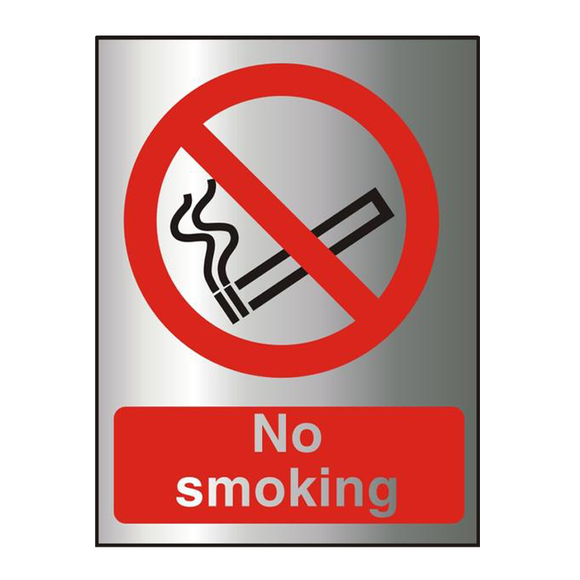 This Office Information Sign features the text 'No smoking' and is perfect for workplaces where smoking is not allowed, such as offices, schools, libaries, shops, cafes, warehouses etc. Free Shipping on all Orders.