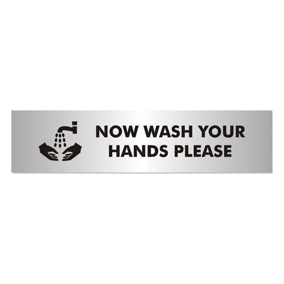 Office Information Sign - Now Wash Your Hands Please. Novel Idea Online provide a wide variety of Office Information Signs. Suitable for a multitude of workplace environments. Free Shipping on all Orders.