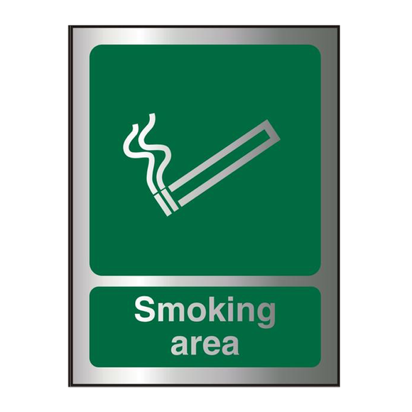 A perfect sign for informing people where it's acceptable to smoke. Suitable for numerous workplaces such as offices, warehouses, airports, schools etc. Available at Novel Idea Online. Free Shipping on All Orders.