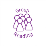 Group work and Group Reading are effective ways of peer assessing school work. This stamp indicates that the work has been done as a peer group. Available at Novel Idea Online. Free UK Shipping.