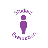 "This Teacher Stamper Prints in Purple and features the image of a single pupil, alongside the text: ""Student Evaluation."" Free UK Shipping."