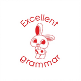 This adorable bunny rabbit stamp is a brilliant way to reward students who've worked very hard to improve their Grammar. Available at Novel Idea Online. Free UK Shipping.