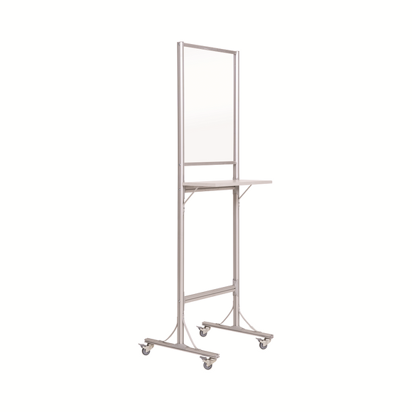 Mobile Standing Desk with Transparent Board 550x720, Glass, 600x1900x560