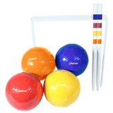 Here we can see the Sunsport Football Croquet Set without its box. Fantastic for family outings to the park, beach or even the back garden. Fun for children and adults alike. Available at Novel Idea Online. Free Shipping on all Orders.
