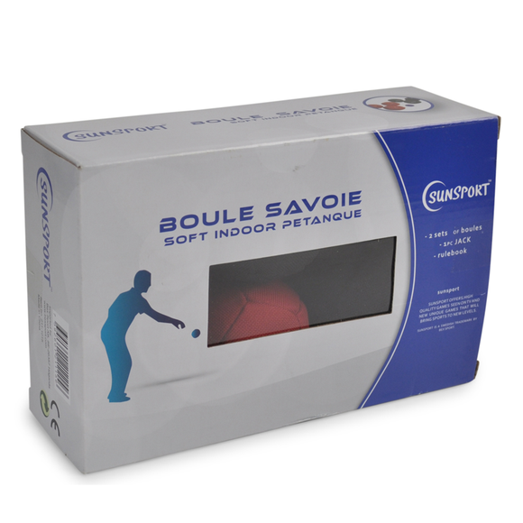 The box for the Savoie Soft Indoor Pétanque Set. Perfect for practicing playing Petanque when the weather isn't suitable outside. Great for playing with family and friends. Available at Novel Idea Online. Free Shipping on all Orders.