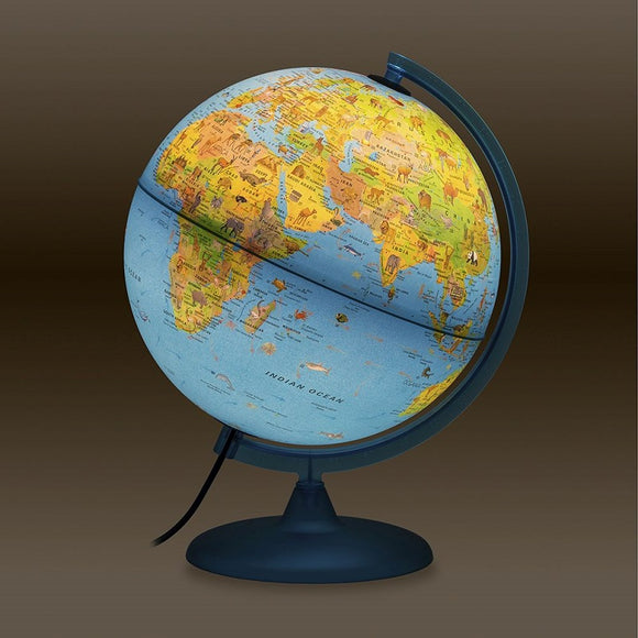 Nova Rico, Illuminated Symbole Children's Globe with Illustrated Information Booklet (30cm)