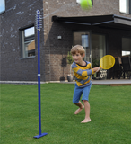 This action shot shows Sunsport's Tether Ball back garden game in full swing. This young lad seems to be enjoying the power of smashing the tether ball as hard as he possibly can. Available at Novel Idea Online. Free Shipping on all UK Orders.