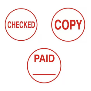 The Trodat, Circular Word Stamp - 3 Different Phrases: Paid, Copy or Checked. Fantastic for administrative tasks in offices, schools, warehouses or shops. Available at Novel Idea Online. Free Shipping on all Orders.