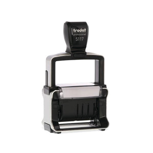 This self-inking Dial-a-Phrase Dater Stamper has 12 phrases these are: Answered, Received, Entered, Backordered, E-mailed, Paid, Cancelled, Cecked, Shipped, Billed, Delivered and Faxed. Available at Novel Idea Online. Free Shipping on all Orders.