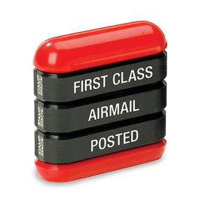 The Trodat 3-in-1 Office Stamp Stack contains the 3 imprint variants: First Class, Airmail and Posted. Perfect for any work environment that deals with postage and posting or shipping. Available at Novel Idea Online. Free Shipping on all Order.