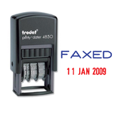 The Trodat Printy Dater 4850, an Office Word and Date Stamp that prints the word Faxed in Blue and the Date in Red. Perfect for administrative office tasks. Available at Novel Idea Online. Free Shipping on all Orders.
