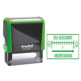 The Trodat Teacher Stamper, print displays a pupil self-assessment graph. Perfect for classrooms, schools and teachers. Novel Idea Online provide Free-Shipping on all orders.